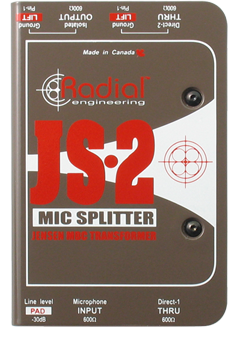 Image of   Radial Js2 Passive Microphone Splitter