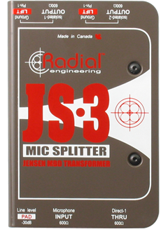 Image of   Radial Js3 Passive Microphone Splitter