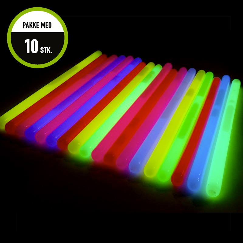 XL Glowsticks 10 pieces Mix
