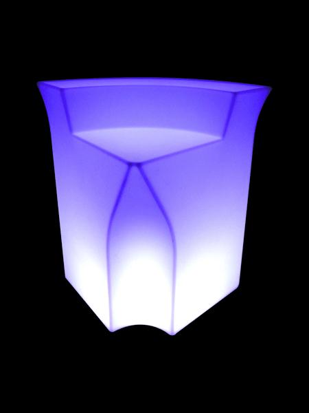 Image of   Bardisk med LED belysning (Hjørne modul)