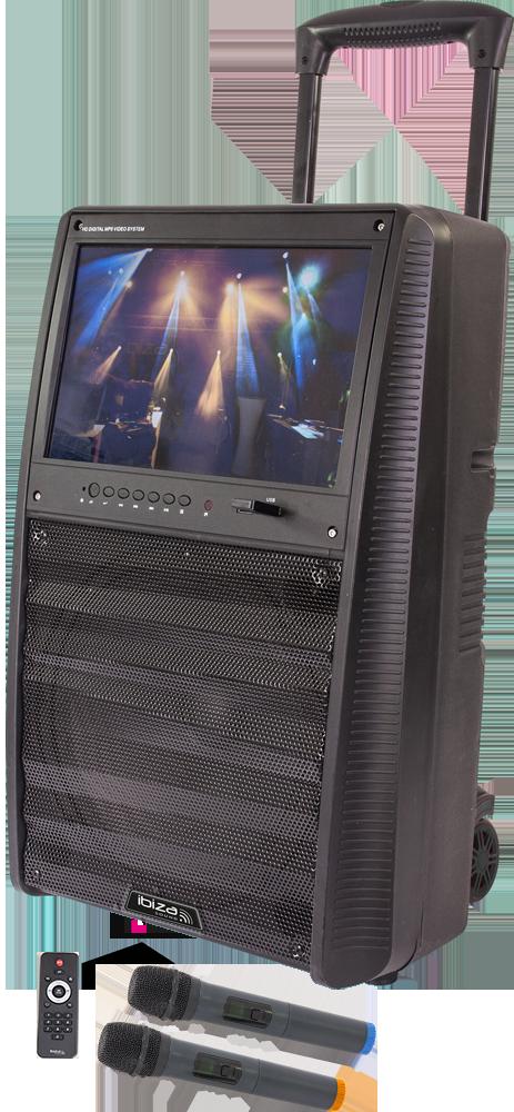 Billede af IBIZA, Karaoke anlæg med TFT skærm, bluetooth og mikrofoner