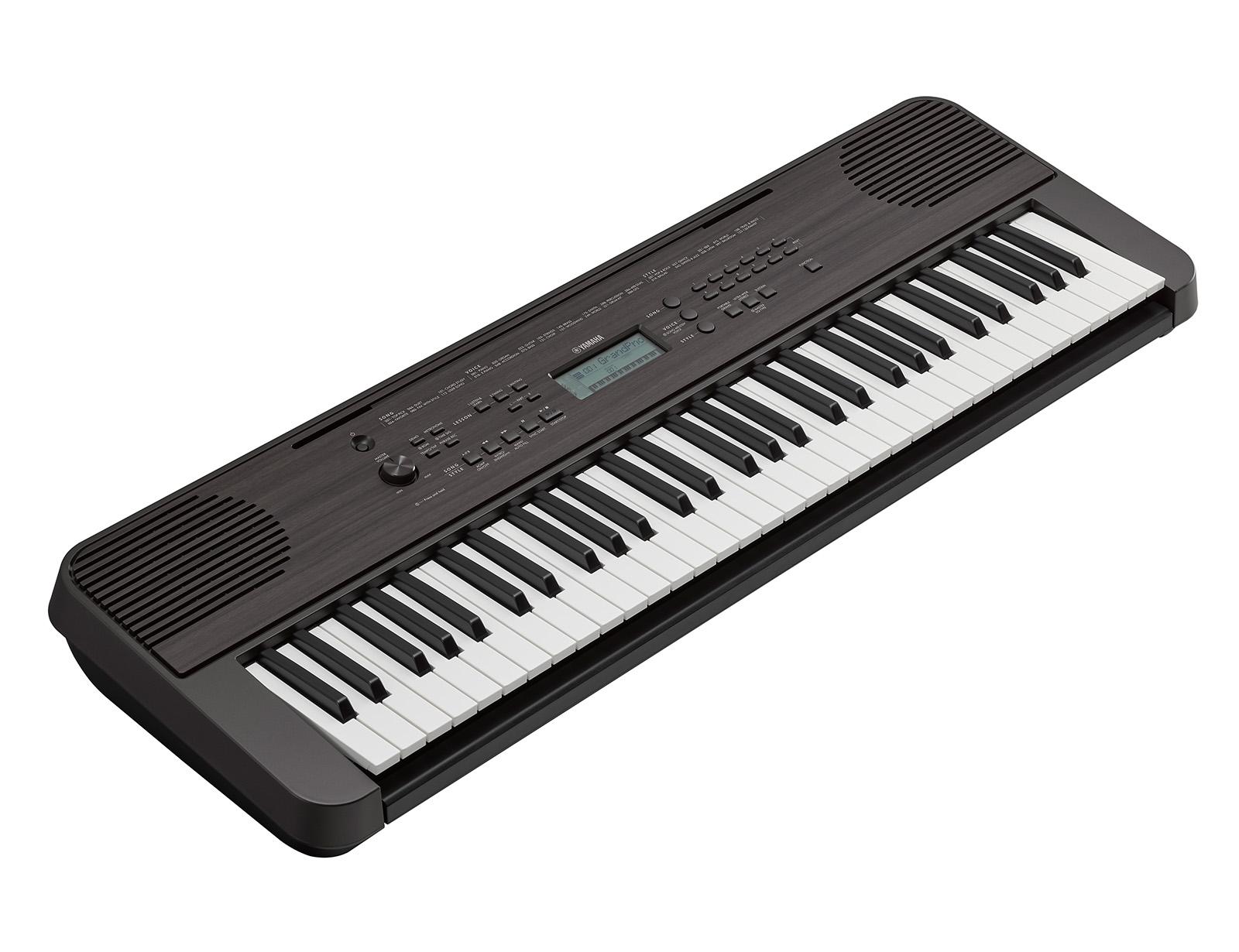 Yamaha PSR-E360DW Keyboard - mørk valnød