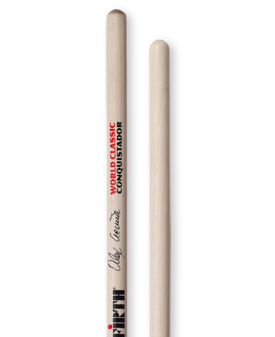 Image of   Vic Firth Alex Acuna Clear Conquistador signatur timbalestikker