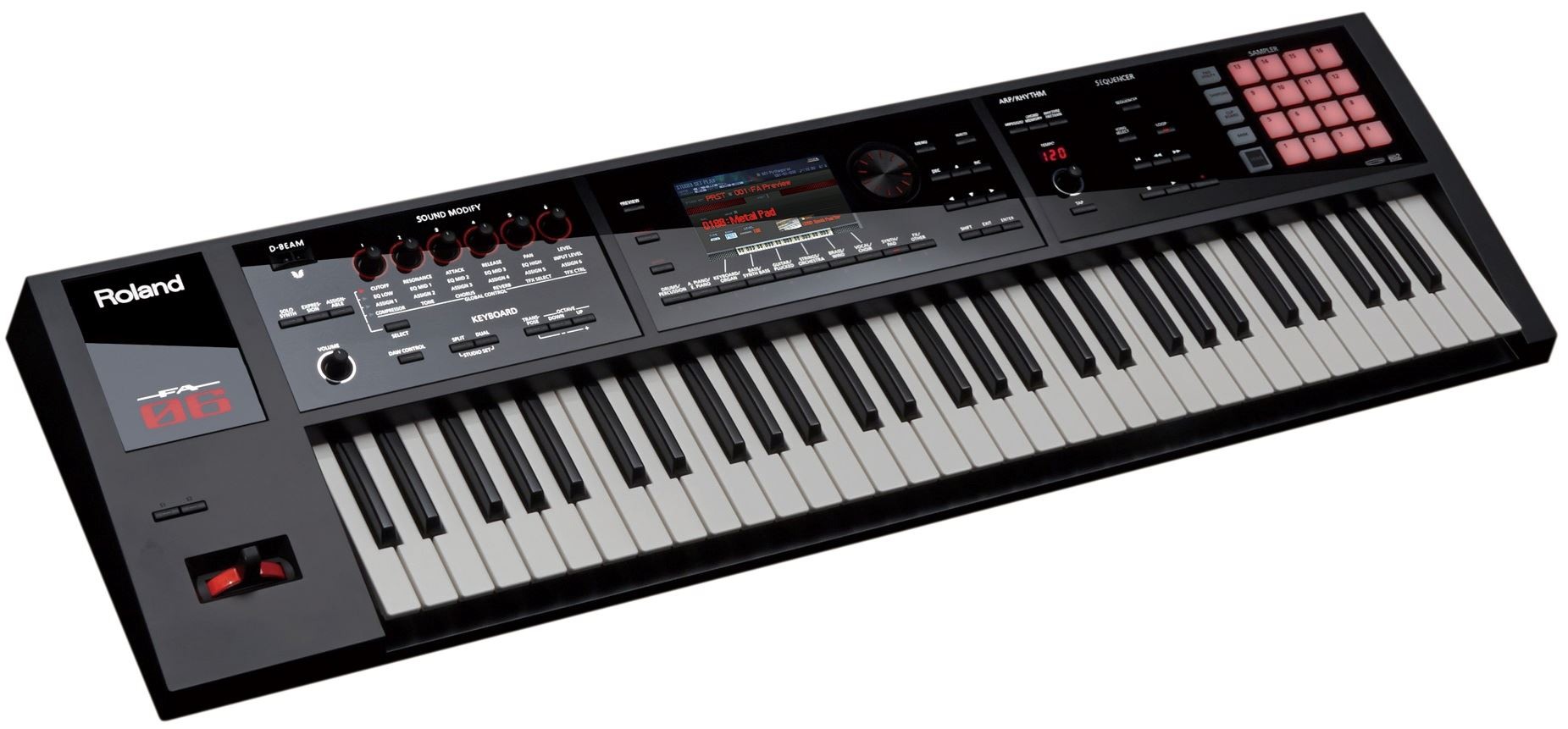 Roland workstation keyboard