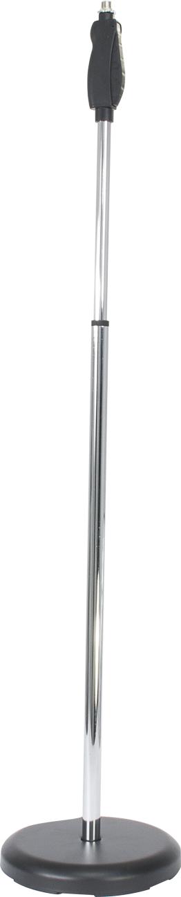 Image of   Ibiza mikrofon stativ, 104 - 156 cm Chrome
