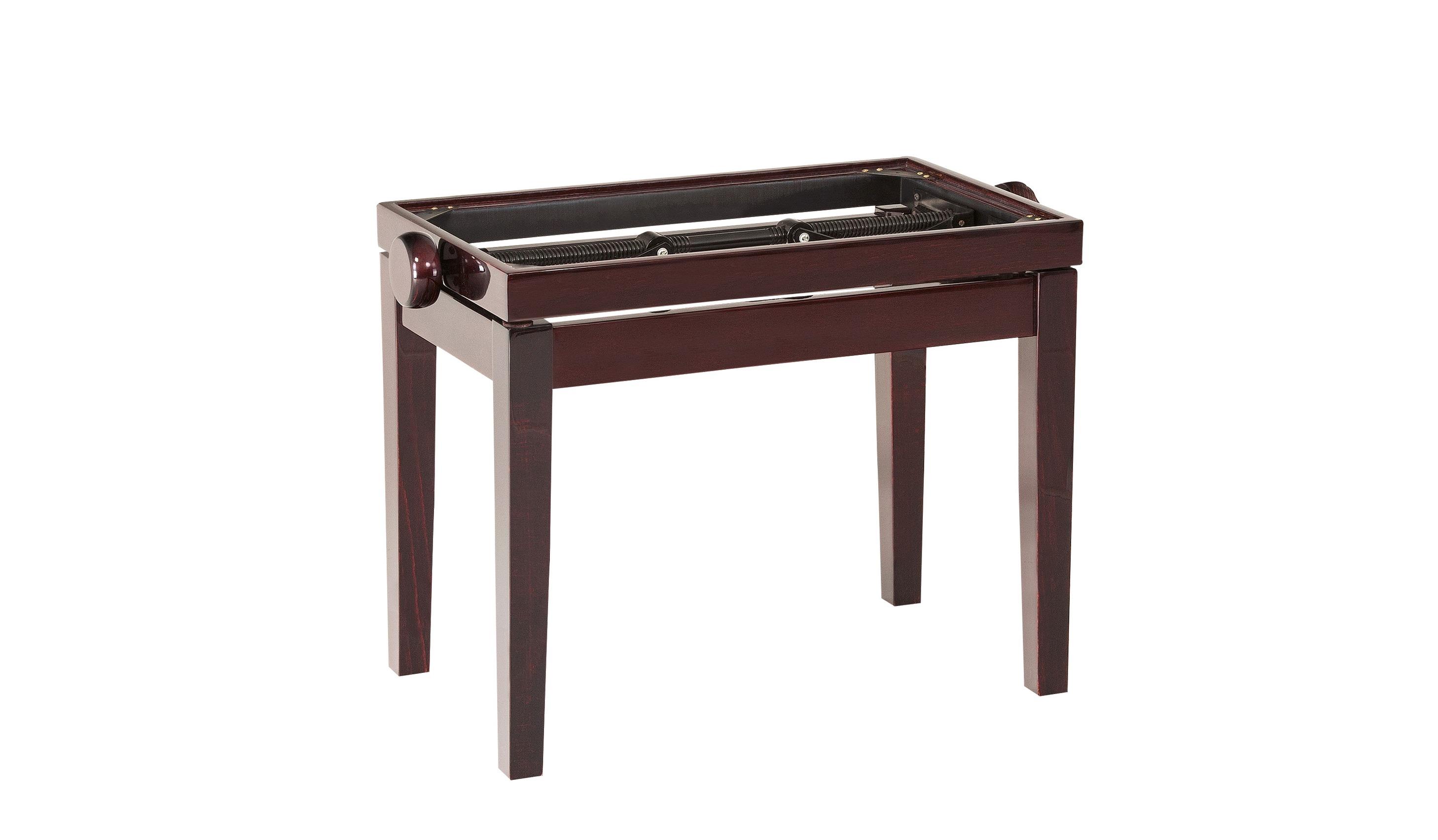 Image of   K&M pianobænk justérbar, mahogni, uden polster