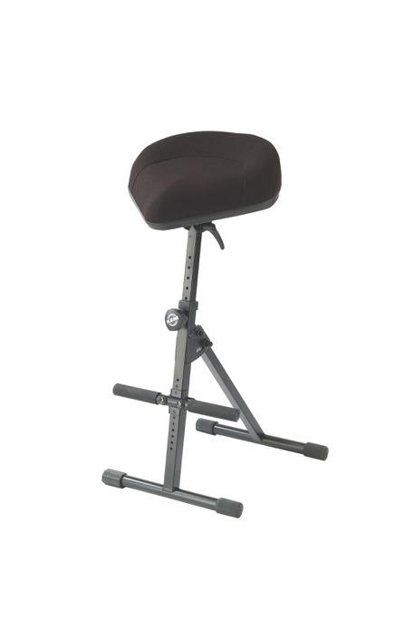 K&M stol (universal) til keyboard, slagtøj m.v., Læder