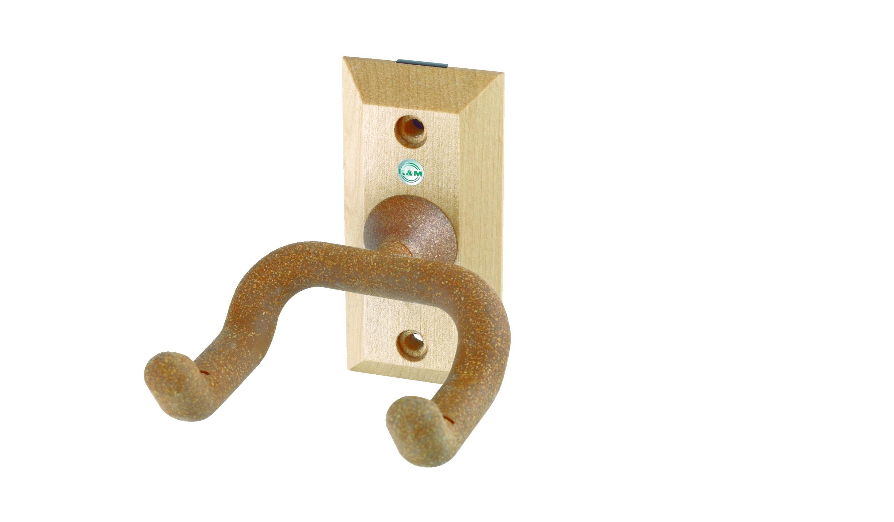 Image of   K&M guitar vægophæng af træ, med kork-belægning