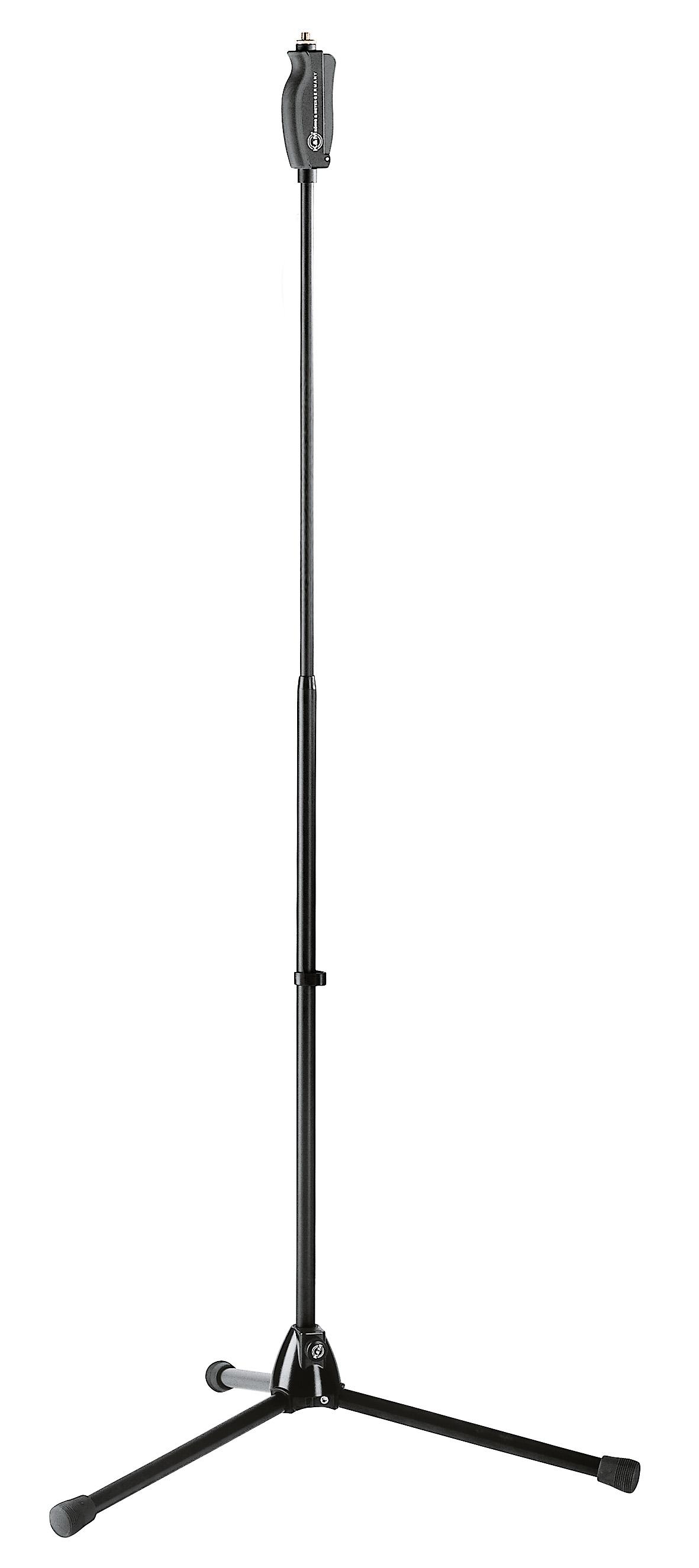 Image of   K&M mikrofonstativ 1-hånds, Sort