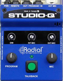 Image of   Radial Radial Studioq - Studio Talkback Interface With Built-In Mic, External