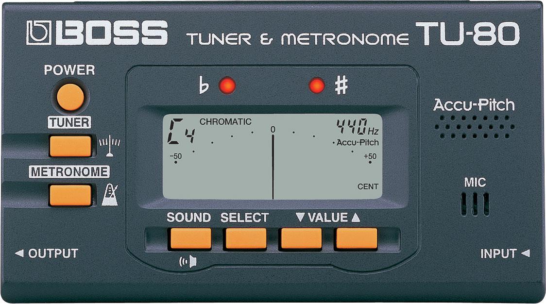 Boss TU-80 tuner og metronome