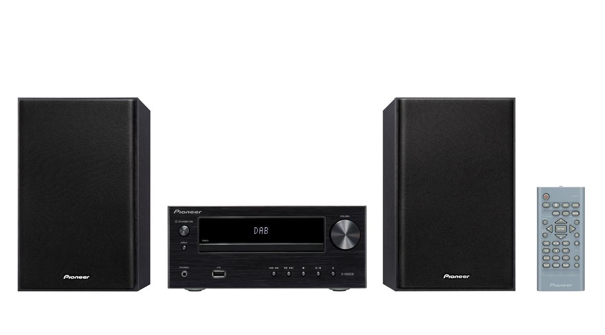 Image of   Pioneer X-HM26D - minianlæg med Bluetooth og DAB+ Farve: Sort