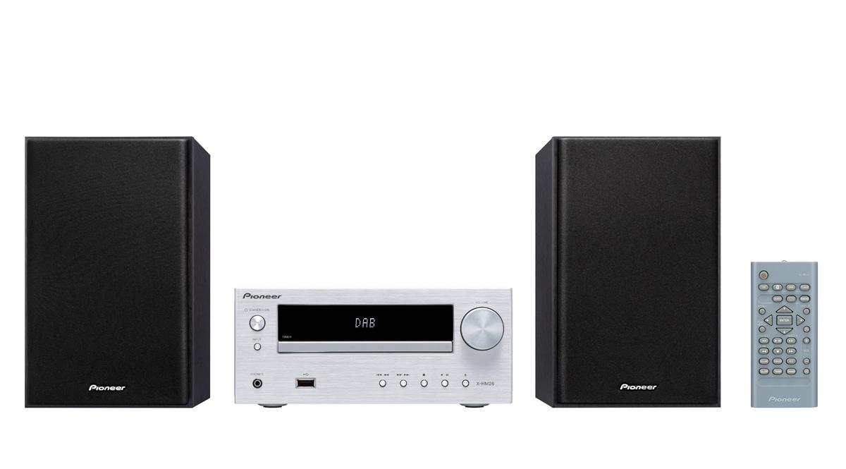 Image of   Pioneer X-HM26D - minianlæg med Bluetooth og DAB+ Farve: Sølv