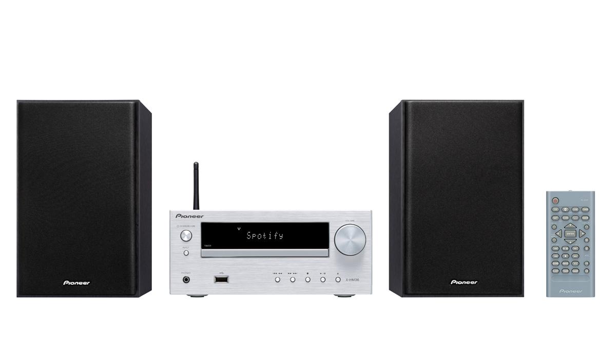 Image of   Pioneer X-HM36D - Bluetooth webradio og DAB+ Farve: Sølv