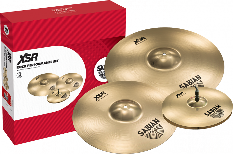SABIAN XSR Rock Performance Set Brilliant Finish